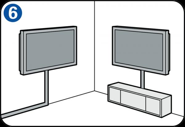 flachbildfernseher an der wand anbringen. Black Bedroom Furniture Sets. Home Design Ideas